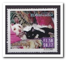 El Salvador 2001, Postfris MNH, Dogs, Cats - El Salvador