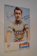 Coureurs Cyclistes,Tour De France ,Charly Gaul , RARE,dédicacé,collection,15 Cm. Sur 10 Cm. - Cyclisme