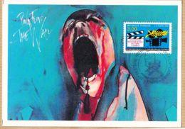 Cppub 165 PINK-FLOYD II The WALL Affiche Film Cinéma TRANSWORLD 50em Festival International CANNES-PARIS 30-11-1996 - Affiches Sur Carte