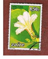 ZAIRE  -  SG 1190 -  1984   : FLOWERS: SCAEVOLA PLUMIERI    - USED ° - 1980-89: Afgestempeld