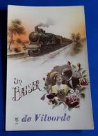 "CP ""Un BAISER De Vilvorde"" (Eisenbahn, Zug, Train, Liebespaaar, Mann, Frau)  # Alte Künstlerkarte, Ungelaufen # [19-402] - Illustrateurs & Photographes"