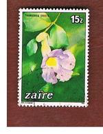ZAIRE  -  SG 1192 -  1984  FLOWERS: THUNBERGIA ERECTA    - USED ° - Zaire