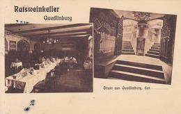 Quedlinburg * Ratsweinkeller, Interieur * AK522 - Quedlinburg