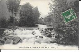 CPA FRANCE LUCHON  CASCADE DE LA PIQUE  PRES DU CASINO - Luchon