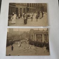Bruxelles // Les Mysteries Du Rosaire Procession // 4 Diff. Cartes 1923 - Feesten En Evenementen