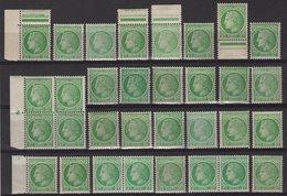 Ceres De Mazelin - N°680 - Lot De Timbres Neufs Avec Varietes D Impression De Nuance Ou De Papier - 1945-47 Cérès De Mazelin