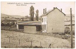 Lavault (71) Maison D'Ecoles, Route D'Uchon. - Francia