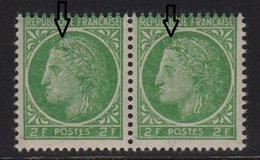 Ceres De Mazelin - N°680 - Paire Sans Epis Et Tache Dans Cheveux - ** Neuf Sans Charniere - 1945-47 Cérès De Mazelin