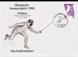 Corea Cover 1988 Seoul Olympic Games - Fechten Florett Zita Funkenhauser (T4-38) - Summer 1988: Seoul