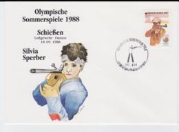 Corea Cover 1988 Seoul Olympic Games - Schiessen Silvia Sperber (T4-38) - Ete 1988: Séoul