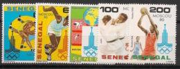 Sénégal - 1980 - N°Yv. 542 à 546 - Olympics / Moscou 80 - Neuf Luxe ** / MNH / Postfrisch - Verano 1980: Moscu