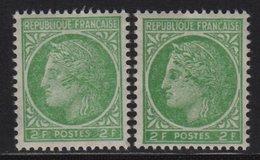 Ceres De Mazelin - N°680 - Visage Balafre - ** Neuf Sans Charniere - 1945-47 Cérès De Mazelin