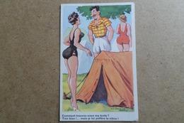 HUMOUR - Illustrateur Jean Chaperon- Pin-up, Jolie Fille, Vacances, Camping  ( Illustrateur, Humour ) - Chaperon, Jean