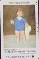Télécarte Japon * 290-3156 * PEINTURE ESPAGNE * PICASSO  * ART (2422)  Japan * Phonecard * KUNST TK - Pintura