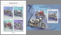 SIERRA LEONE 2019 MNH Motorcycles Motorräder Motos M/S+S/S - OFFICIAL ISSUE - DH1934 - Motorräder