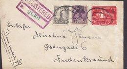 United States Uprated Postal Stationery Ganzsache Registered GRAND RAPIDS Mich. 1932 FREDERIKSSUND (Arr.) Denmark - 1921-40