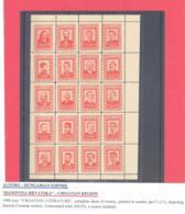 Banovina Hrvatska  Austro-Hungarian Empire  1900  20-er Bogen **  M. Cihlar-Nehajev - Unclassified