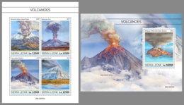 SIERRA LEONE 2019 MNH Volcanoes Vulkane Volcans M/S+S/S - IMPERFORATED - DH1934 - Volcans