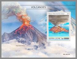 SIERRA LEONE 2019 MNH Volcanoes Vulkane Volcans S/S - IMPERFORATED - DH1934 - Volcans