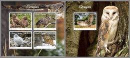 SAO TOME 2019 MNH Owls Eulen Hiboux M/S+S/S - OFFICIAL ISSUE - DH1934 - Eulenvögel