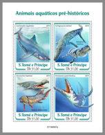 SAO TOME 2019 MNH Prehistoric Water Animals Wassersaurier Dinosaures De Mer M/S - OFFICIAL ISSUE - DH1934 - Prehistorics
