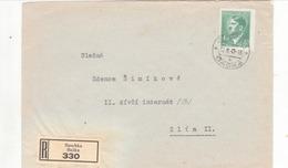 """Einschreibe Brief """" Baschka """" Nach Zlin - Briefe U. Dokumente"""
