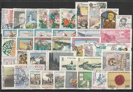 # Italia 1981 Annata Completa 40 Valori Usati - 6. 1946-.. Repubblica