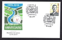 2.- ESPAÑA 2019 MATASELLO ESPECIAL CAMINO DE SANTIAGO POR LA RIBERA BAJA - MONFORTE DE LEMOS LUGO - 1931-Hoy: 2ª República - ... Juan Carlos I