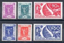 FRANCE - YT N° 322 à 327 - Neufs ** - MNH - Cote: 125,00 € - Neufs