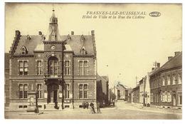 Frasnes-lez-Buissenal. Hôtel De Ville Et La Rue Du Cloître. ****. - Frasnes-lez-Anvaing