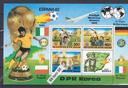 1982 World Championship On Football Of Spain Mi-B124  S/S-MNH Korea, North - Corée Du Nord