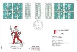 Schweiz Suisse 1968: R-Karte (22x15cm) KD  Mit Steg Se-tenant Avec Pont Zu S73 Mi KZ24G ET-o BERN 24.VI.68 (Zu CHF 5.00) - Kehrdrucke