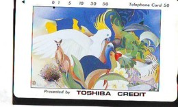 Télécarte Japon * OISEAUX * KANGAROO * PEINTURE FRANCE * ART (2425)  Japan * Phonecard * KUNST TK - Peinture