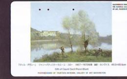 Télécarte Japon * NATIONAL GALLERY OF ART * PEINTURE FRANCE * ART (2427)  Japan * Phonecard * KUNST TK - Painting