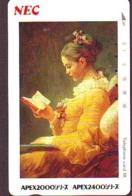 Télécarte Japon * 330-30664 * FRAGONARD * LA LISEUSE  * PEINTURE FRANCE * ART (2430)  Japan * Phonecard * KUNST TK - Peinture