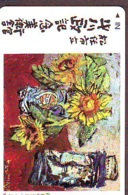 Télécarte Japon * SUNFLOWER   * PEINTURE FRANCE * ART (2434)  Japan * Phonecard * KUNST TK - Peinture