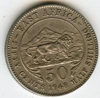 Afrique Orientale Britanique East Africa 50 Cents 1948 KM 30 - Colonia Britannica