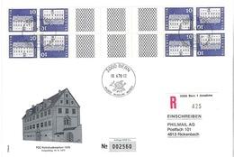Schweiz Suisse 1970: R-Karte (22x15cm) KD  Mit Steg Se-tenant Avec Pont Zu S74 Mi KZ26G ET-o BERN 18.VI.70 (Zu CHF 7.50) - Kehrdrucke