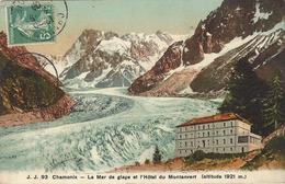 74 CHAMONIX MONT BLANC HOTEL DU MONTANVERT OU MONTENVERS GLACIER MER DE GLACE COLORISEE EDITEUR JULLIEN FRERES JJ 93 - Chamonix-Mont-Blanc