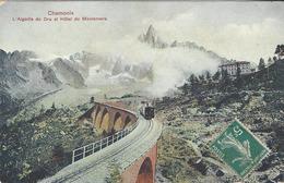 74 CHAMONIX MONT BLANC TRAIN A CREMAILLERE VIADUC DU MONTENVERS GLACIER DE LA MER DE GLACE HOTEL  EDITEUR SERRUS - Chamonix-Mont-Blanc