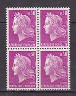 N° 1536 Type Marioanne De Cheffer 30c Lilas: Bloc De 4 Timbres Neuf Impeccable - France
