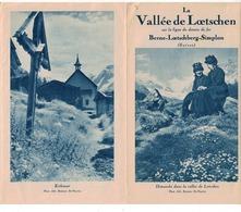 La Vallée De Loetschen - Lötschental - Valais Suisse - Bern - Loetschberg - Simplon (~18 X 11 Cm) 8 Pages - Tourism Brochures