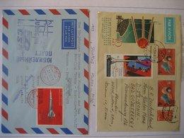 Russland- Beleg Luftpost Tag Der Kosmonauten, Beleg Luftpost Sternflug Moskau - Prag Mit Mi. 3698 - Covers & Documents