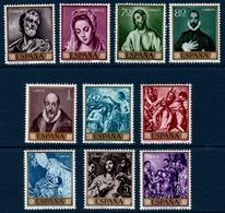 ESP 1961  Journée Du Timbre : œuvres Du Greco  N°YT 1007-1016 ** MNH - 1931-Oggi: 2. Rep. - ... Juan Carlos I