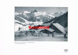1180 Hess. Hegmatt Engelberg Winterbild Kunstblatt 1907 !! - Unclassified