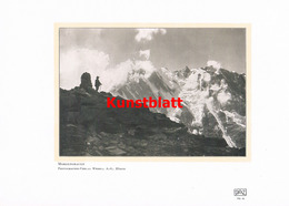 1181 Wehrli. Morgengrauen Bergsteiger Kunstblatt 1907 !! - Unclassified