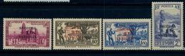"""1941 - COSTA DE MARFIL / COTE D'IVOIRE ,  YV. 165 / 168 * , SOBRECARGADOS """" SECOURS NATIONAL """" - Costa De Marfil (1892-1944)"""