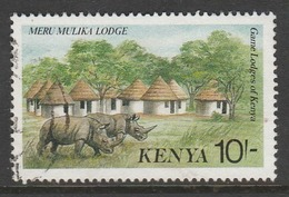 Kenya 1988 Tourism - Tourist Lodges 10 Sh Multicoloured SW 445 O Used - Kenya (1963-...)