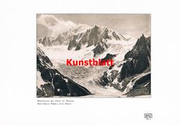 1182 Wehrli. Montblanc Dent Du Requin Kunstblatt 1907 !! - Historische Dokumente