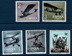 ESP 1961 Cinquantenaire De L'aviation Espagnole  N°YT 1074-1078 ** MNH - 1931-Oggi: 2. Rep. - ... Juan Carlos I